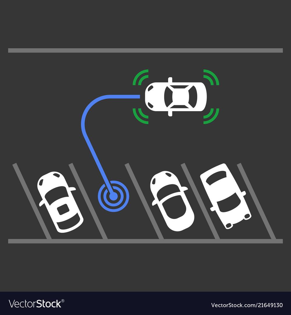 Smart car parking assist system top view