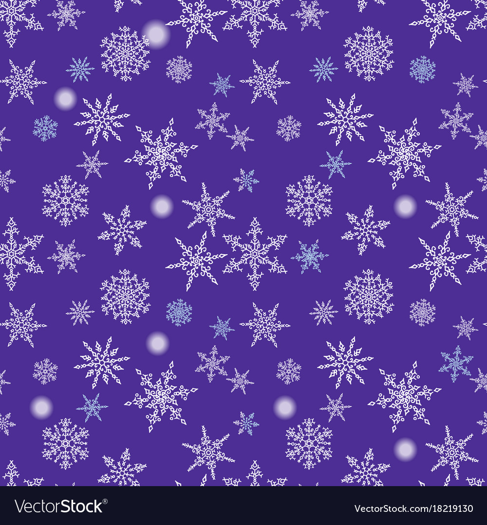 Snowflakes seamless pattern holiday blue