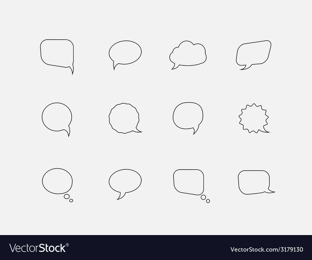 Speech line bubbles vector image