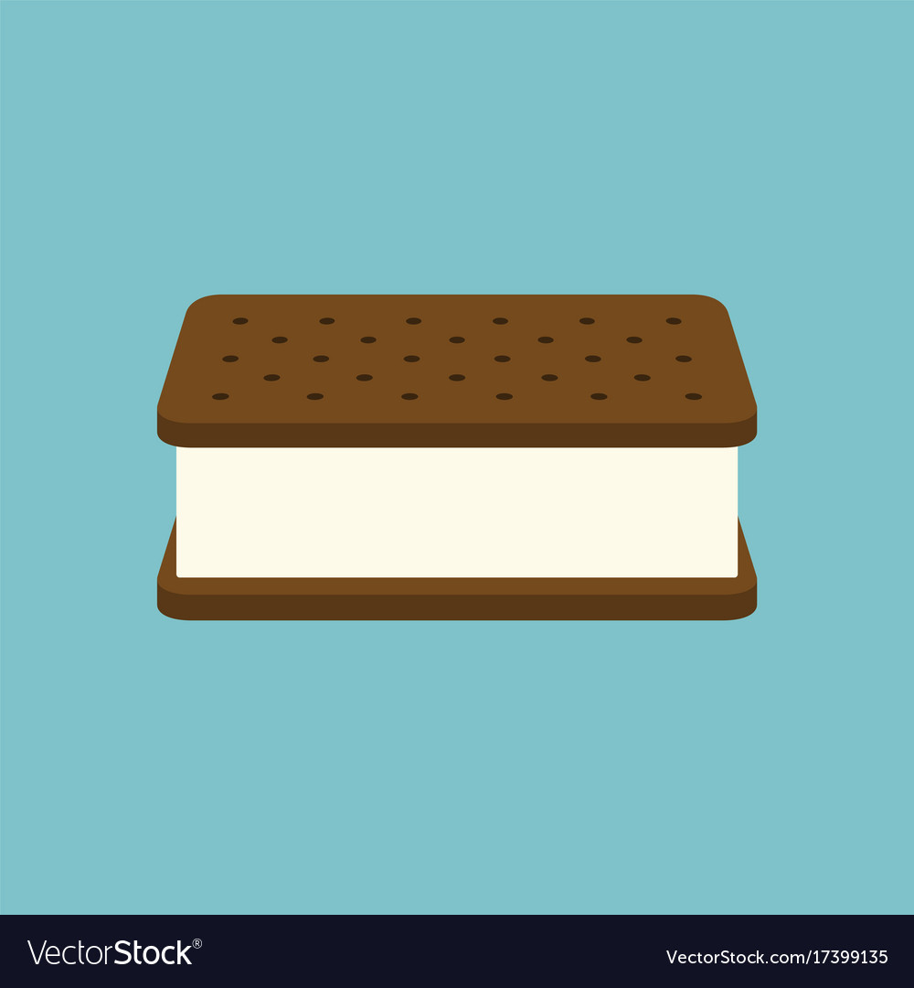 Ice Cream Sandwich Icon Vector Image