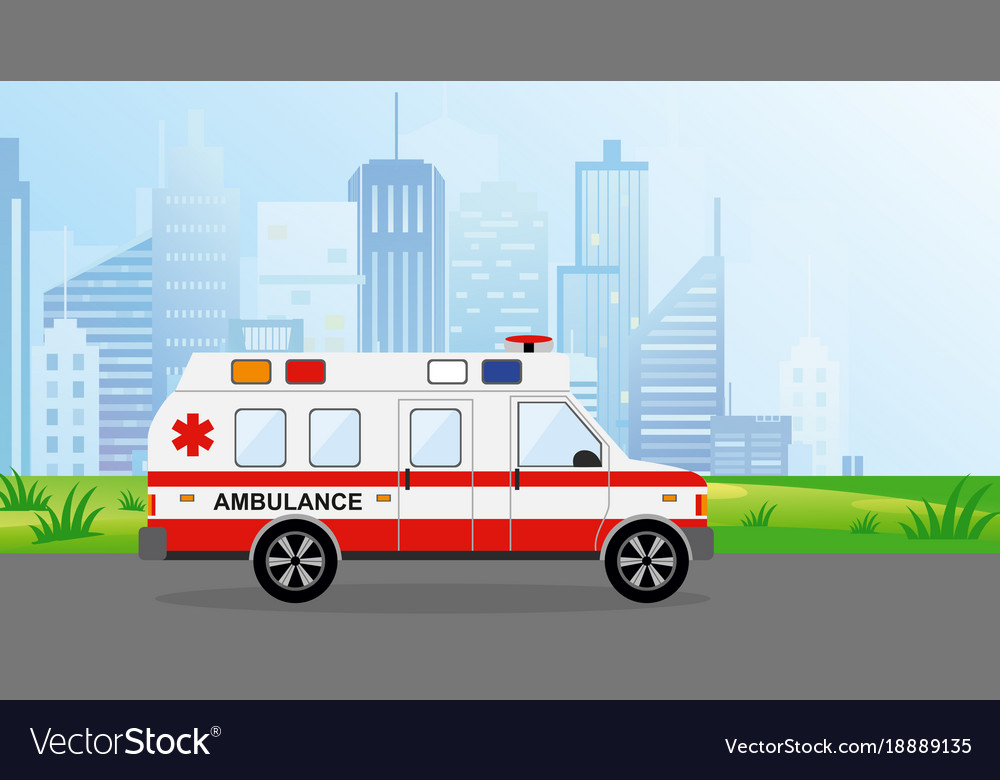 Ambulance car in the city