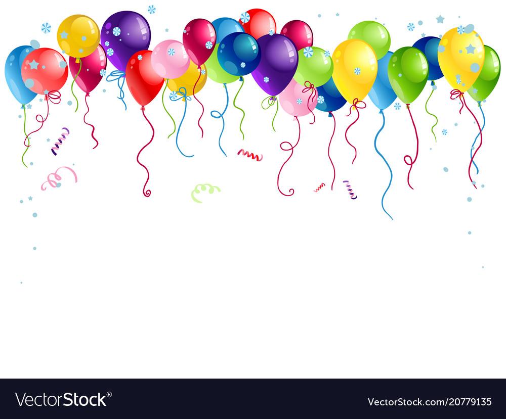 Bright holiday balloons isolated
