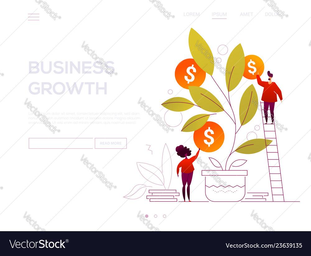 Business growth - modern flat design style web