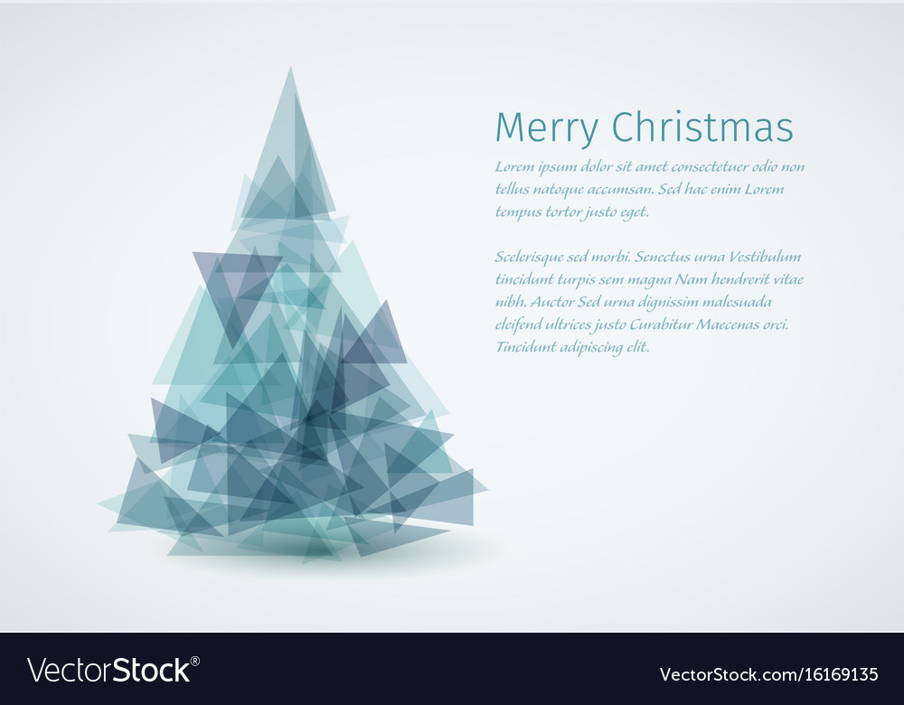 modern christmas card with christmas tree vector image - Modern Christmas