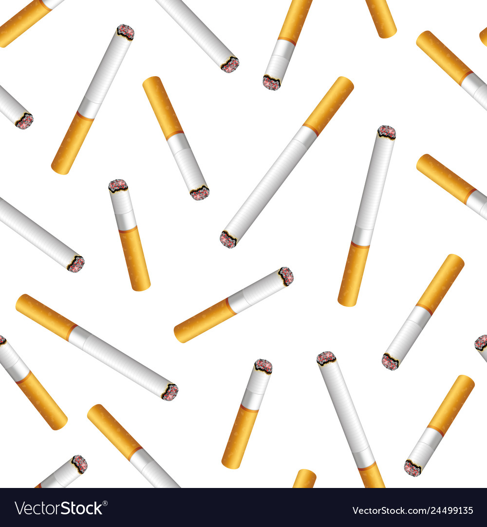 Seamless pattern with cigarette butts on