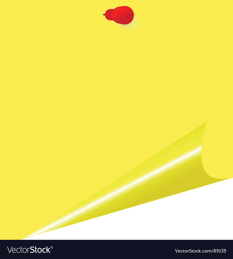 Yellow memo stick
