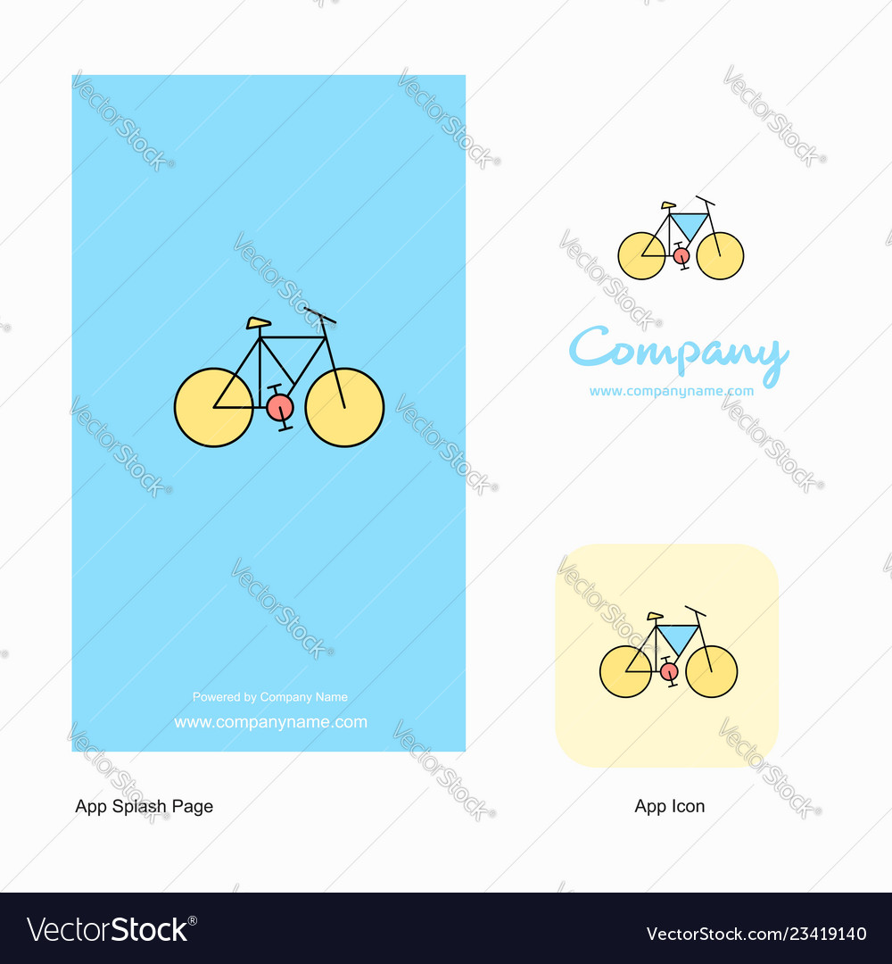 Cycle company logo app icon and splash page