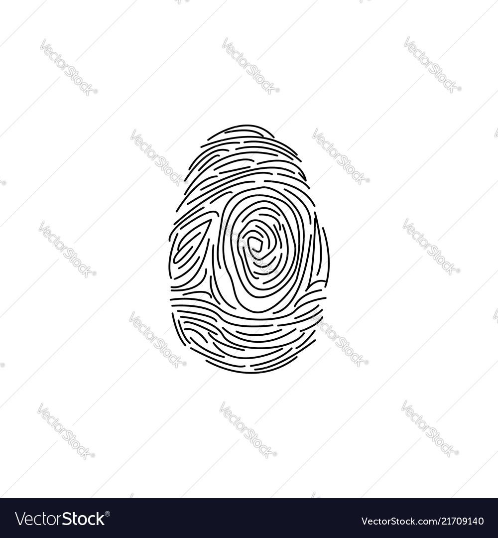 Fingerprint icon black on whi