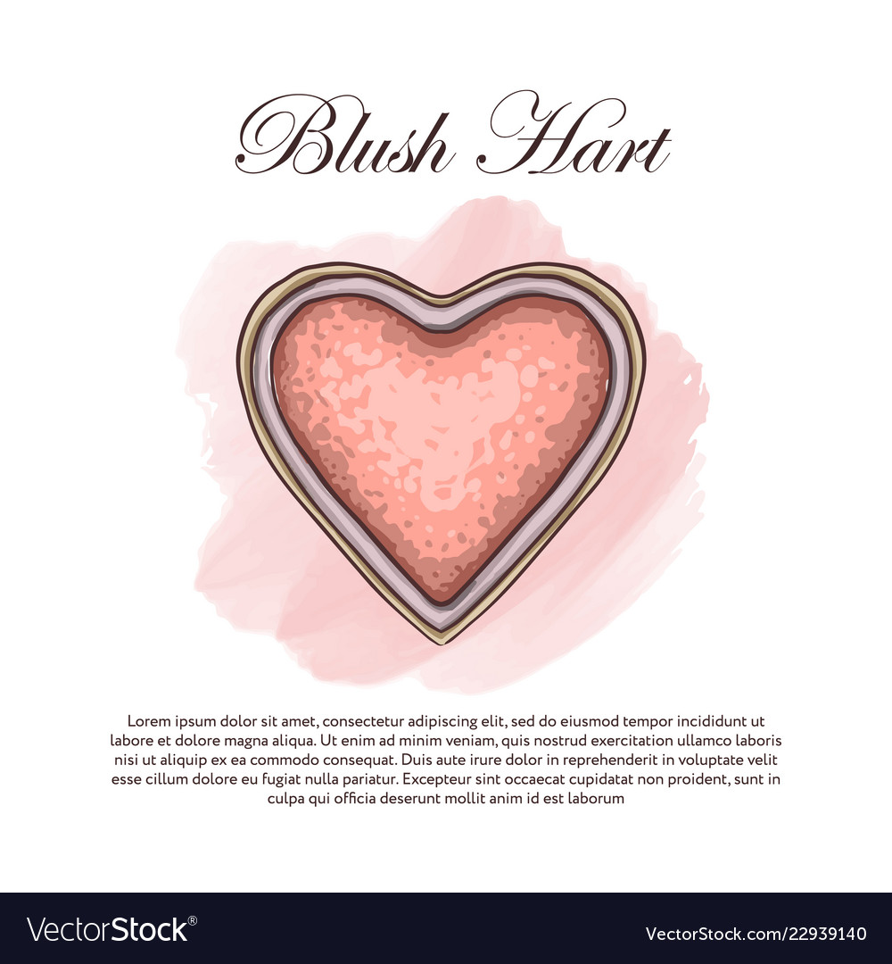 Hand drawn color sketch of a single blush