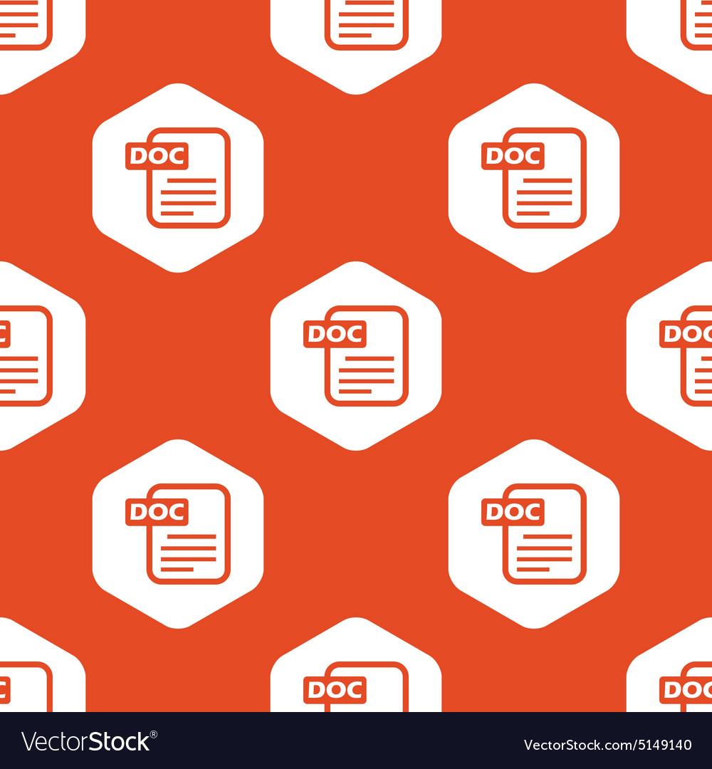 Orange hexagon DOC file pattern