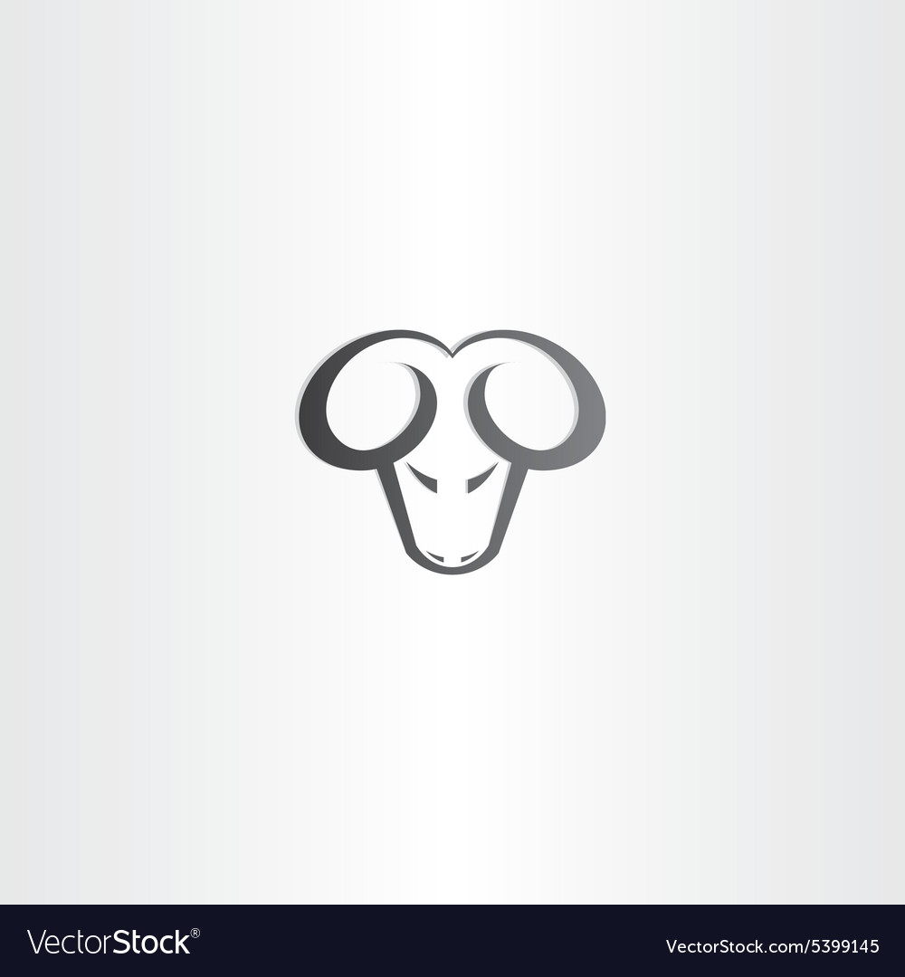 Black ram head icon