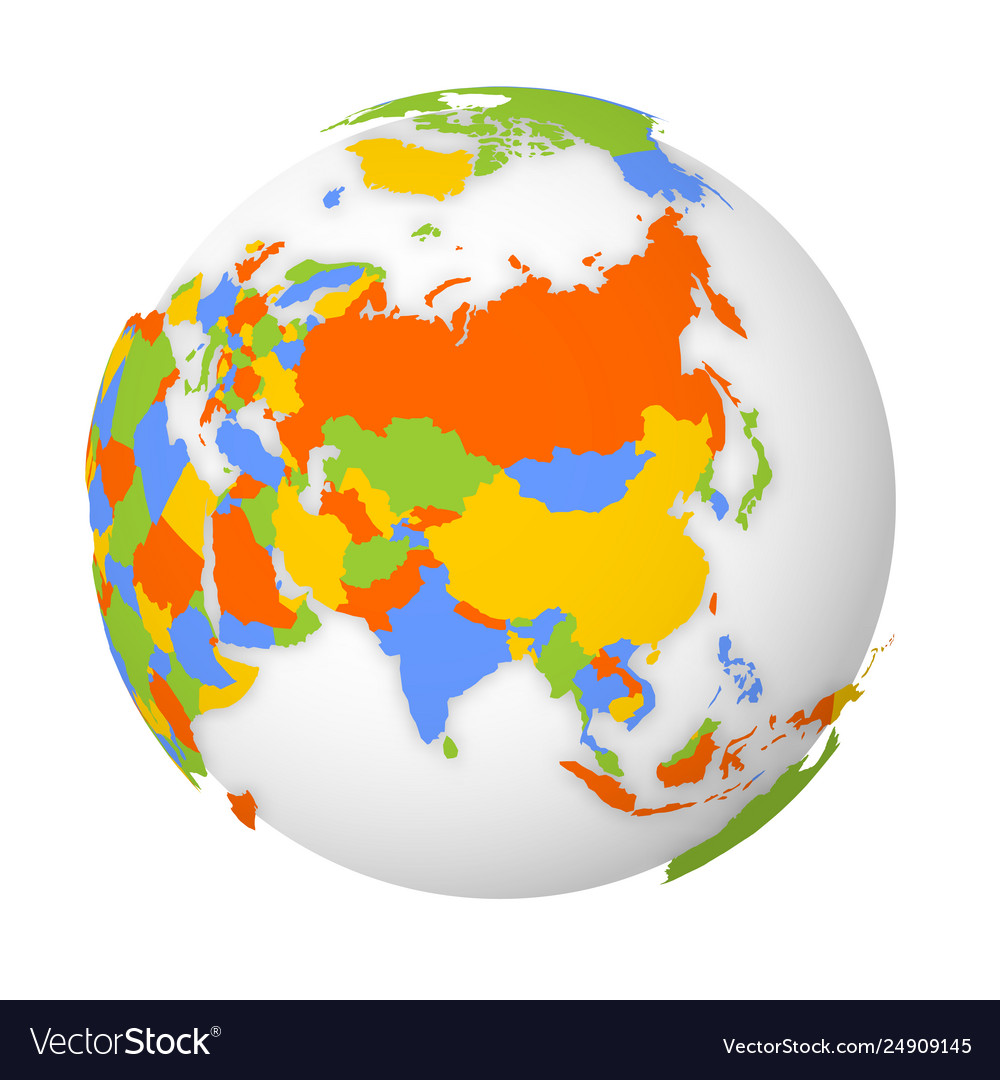 Map Of Asia 3d.Blank Political Map Asia 3d Earth Globe With