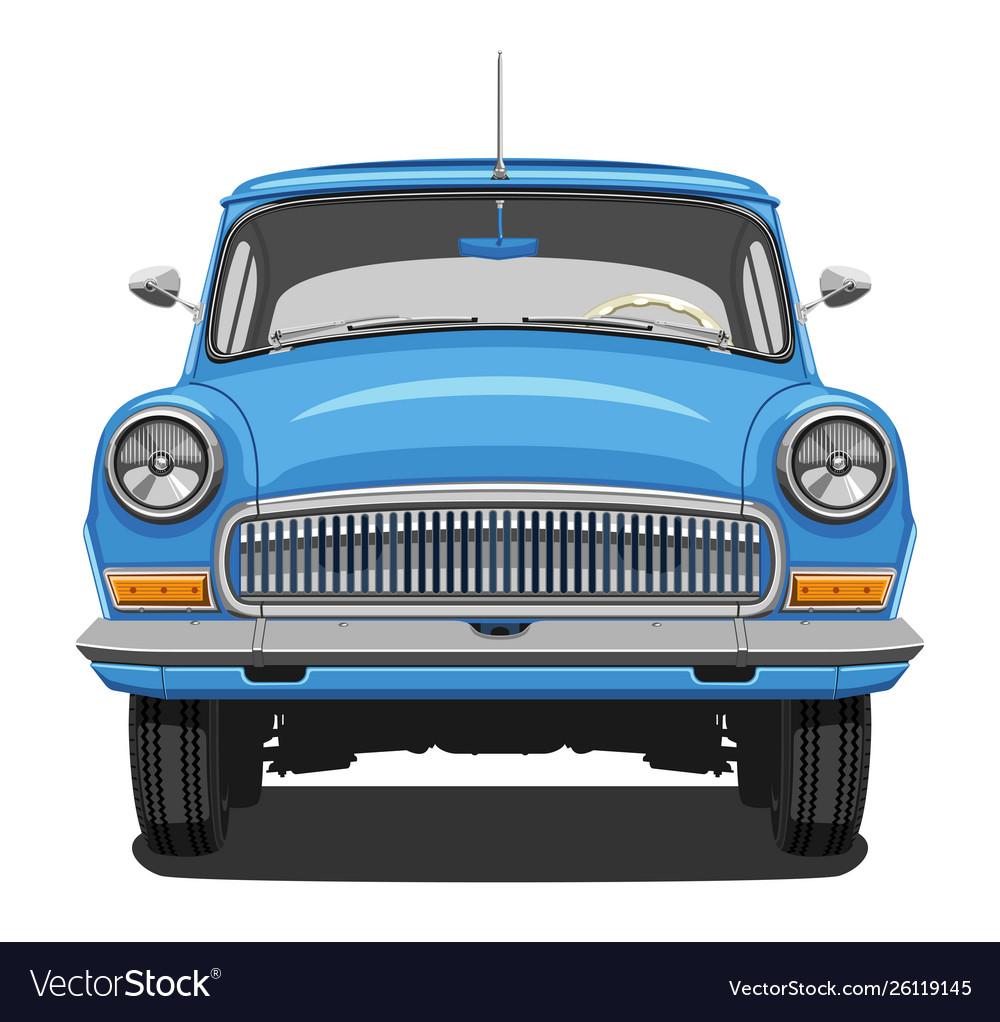 Blue vintage car Royalty Free Vector Image - VectorStock