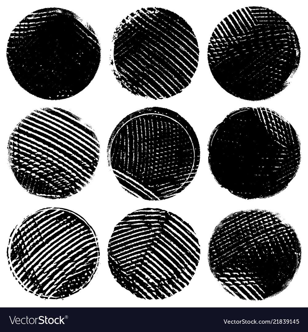 Bold circle stamps