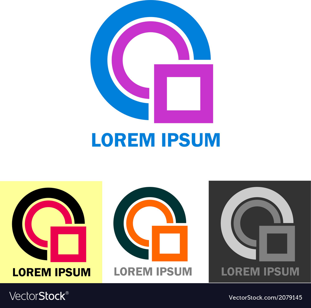 Colorful business logo icons