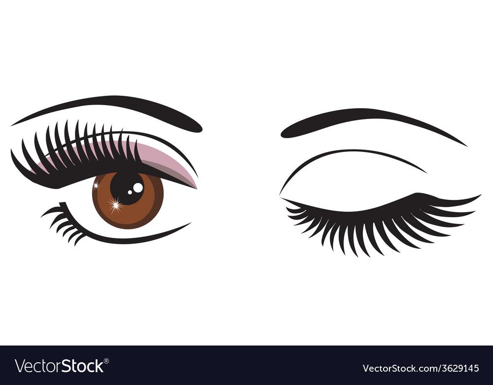 Eye brown wink