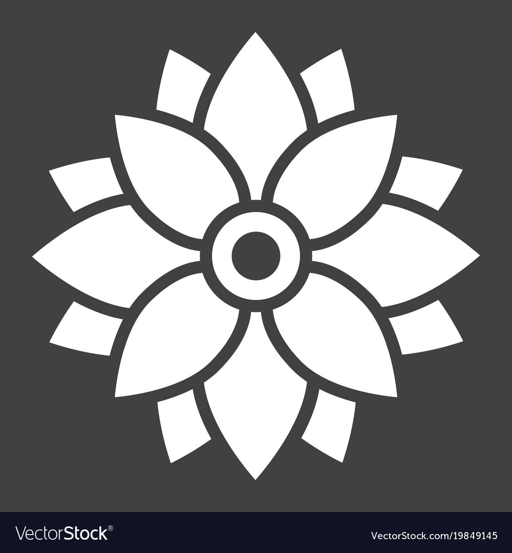 Flower astra glyph icon easter and holiday vector image