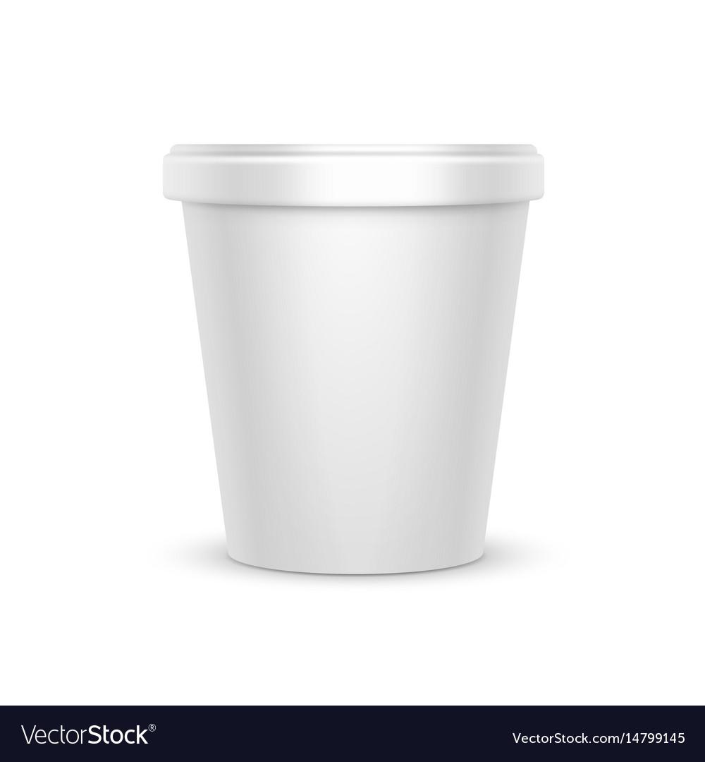 Food container for dessert yogurt ice cream vector image