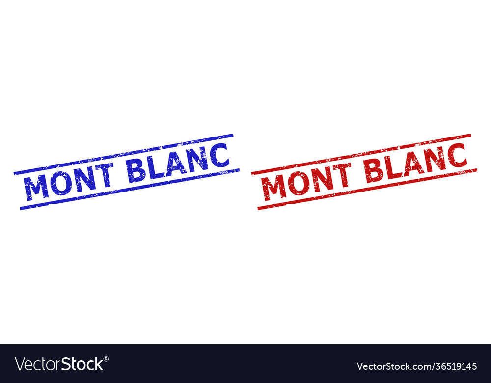 Mont blanc seals with grunge style and parallel