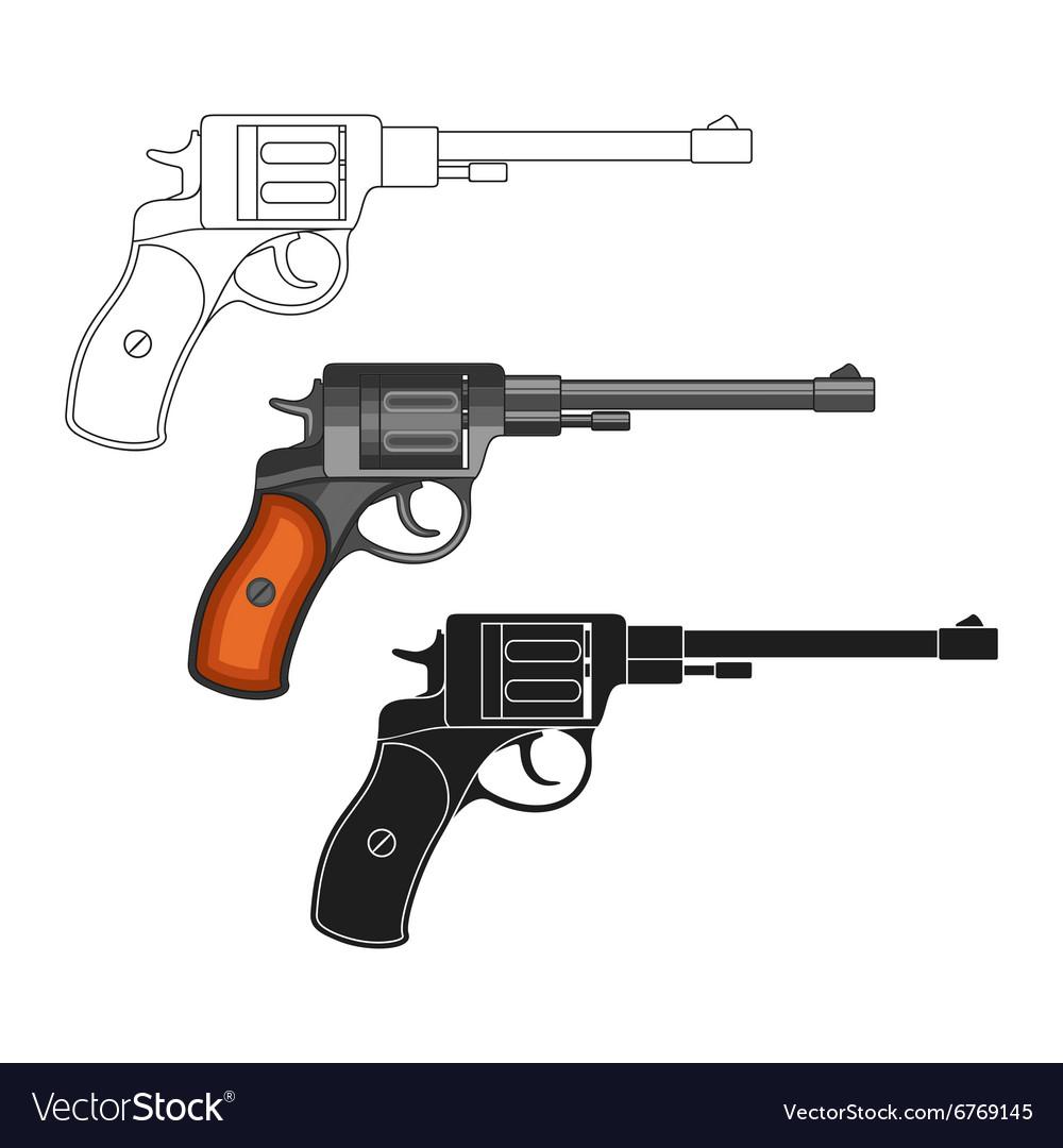 Set of revolvers vector image