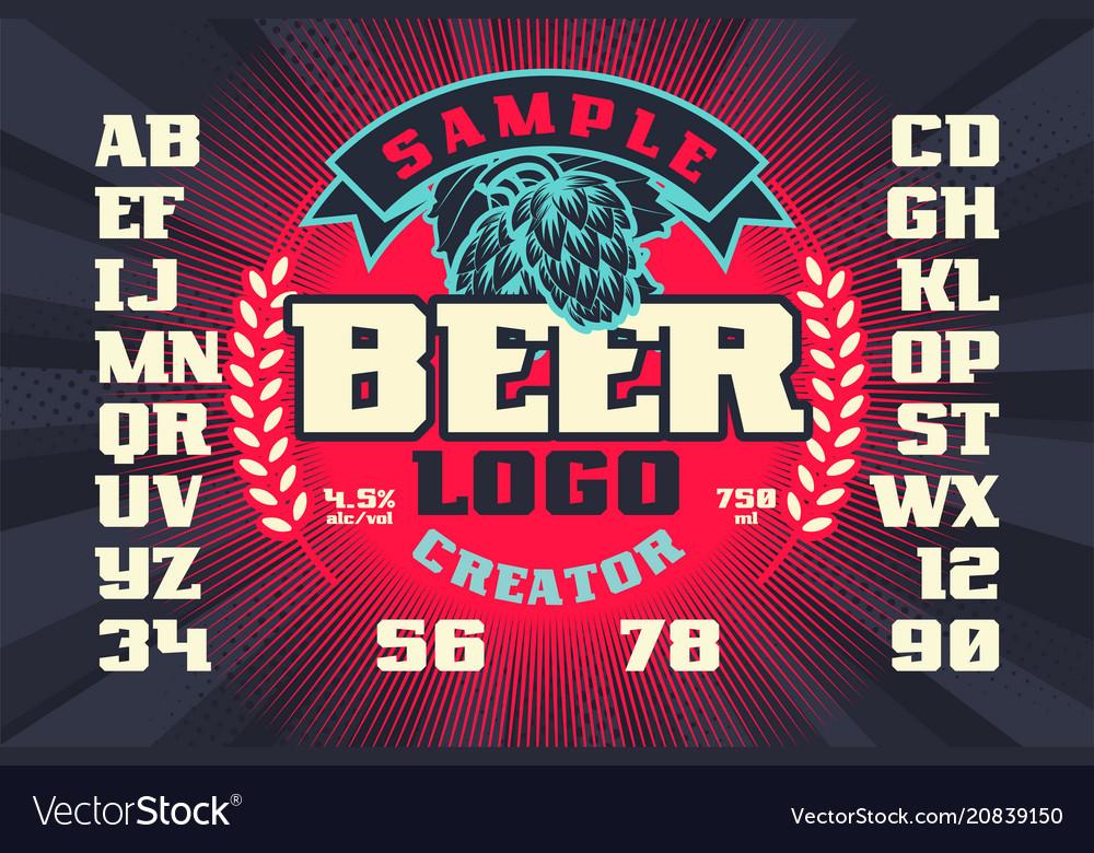 Beer label logo creator
