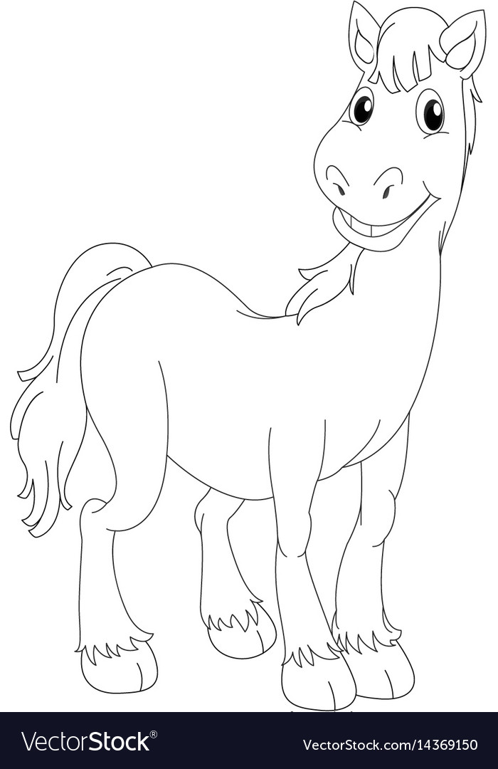 Doodle animal for horse vector image