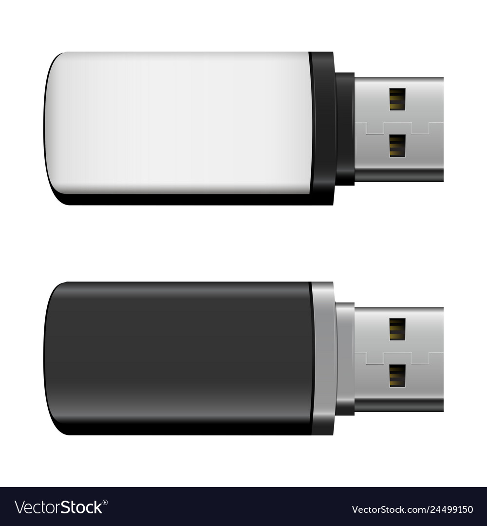 Isolated usb pen drives black and white