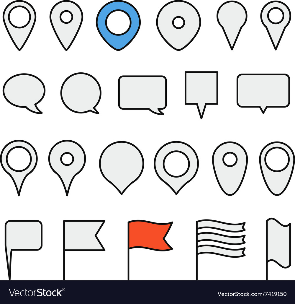 Navigation pins collection Minimalism