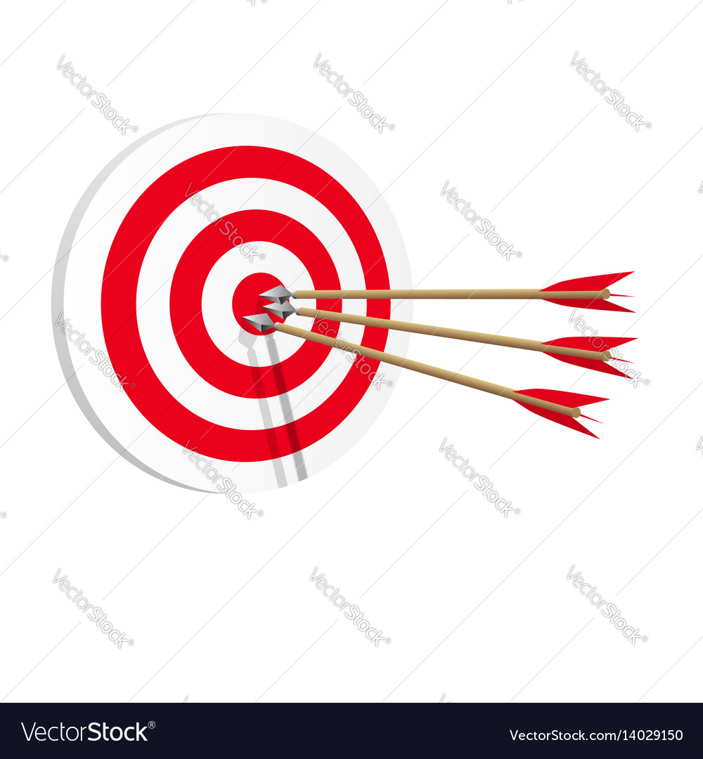 Target icon art web success in business concept