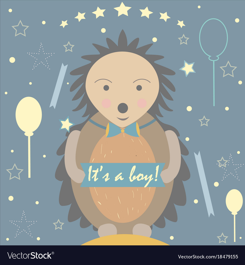 baby boy birth announcement baby shower royalty free vector