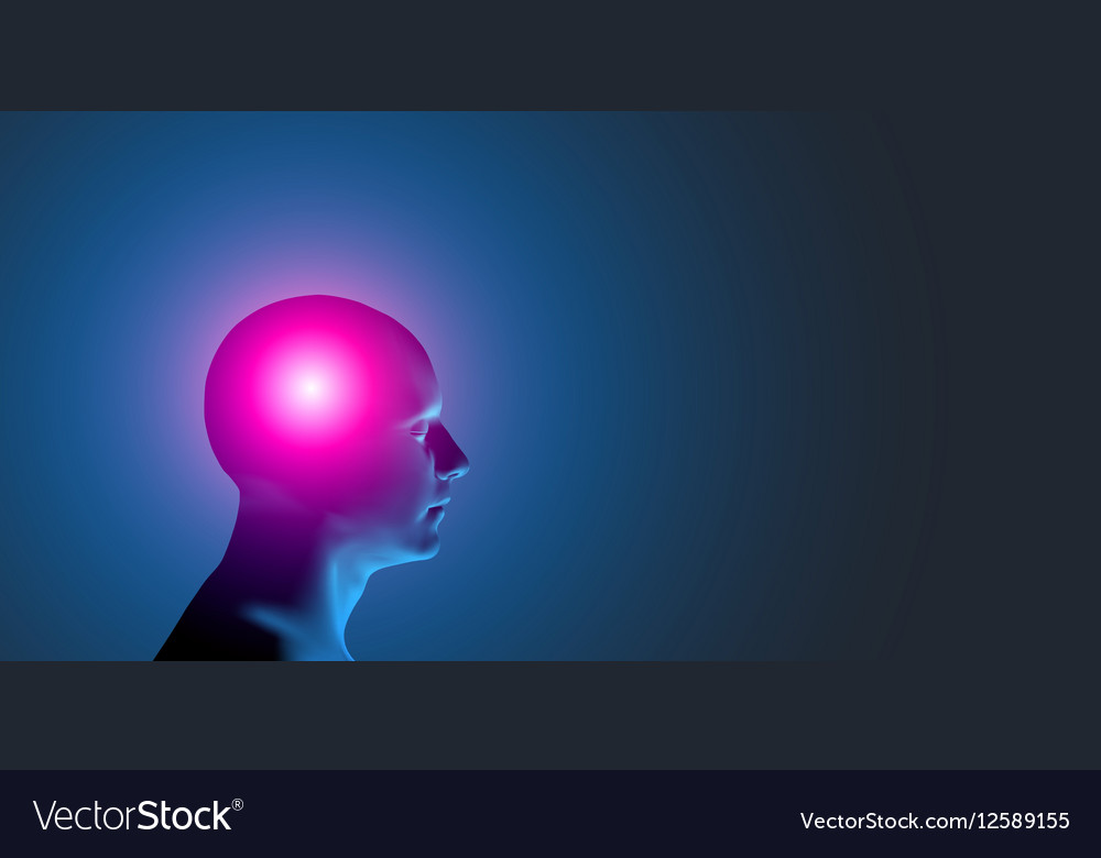 Healthcare and migraine concept vector image