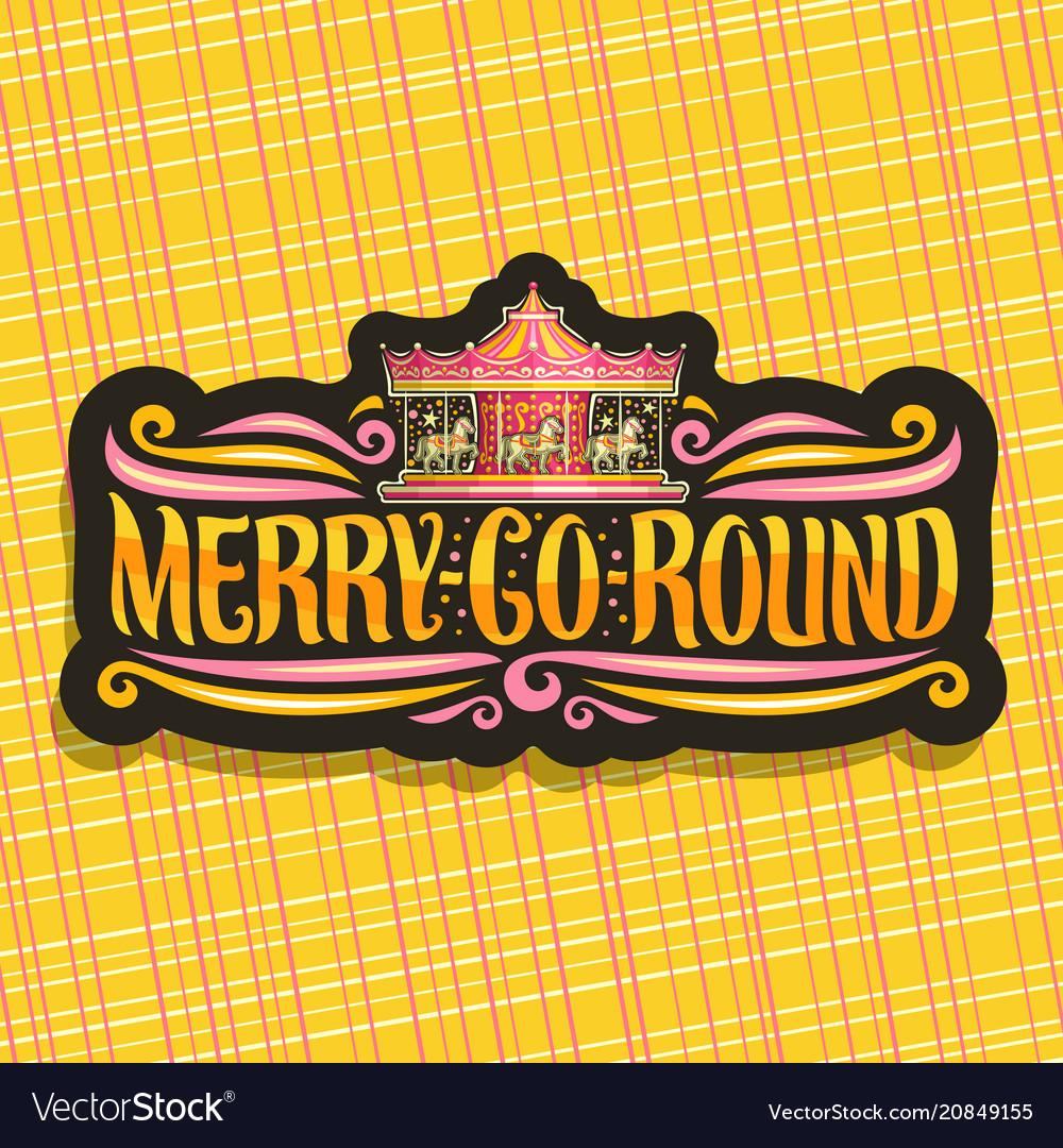 Logo for merry-go-round carousel