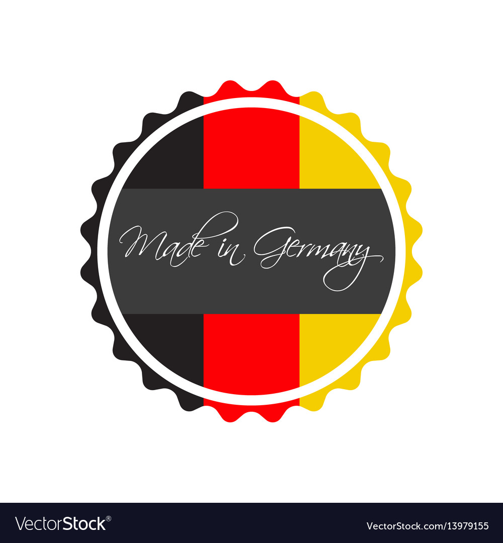 Made in germany symbol german sticker vector image