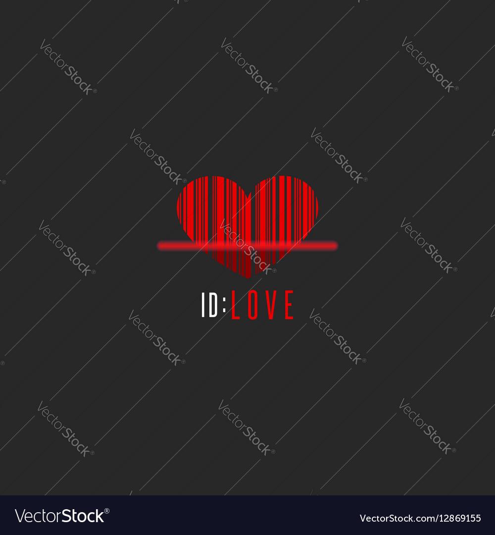 Red heart shape barcode scanner creative