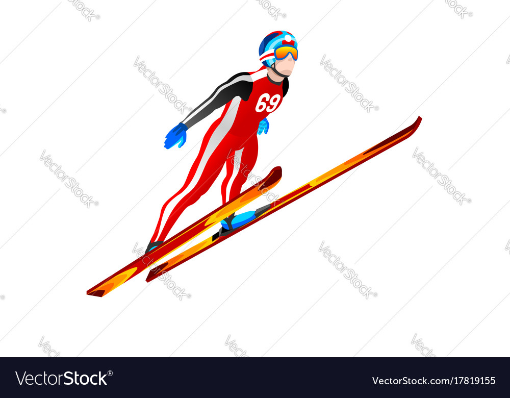 ski jump winter sports clipart royalty free vector image rh vectorstock com free winter sport clipart Winter Clip Art