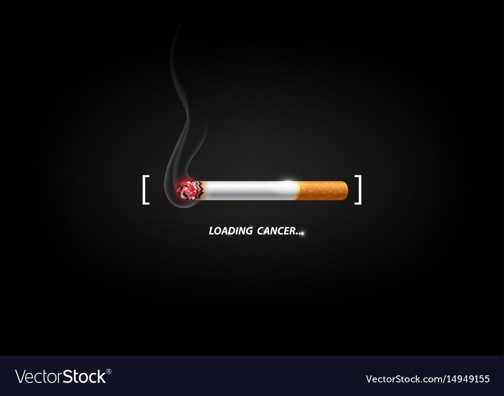 Stop smoking concept loading bar cigarette burn