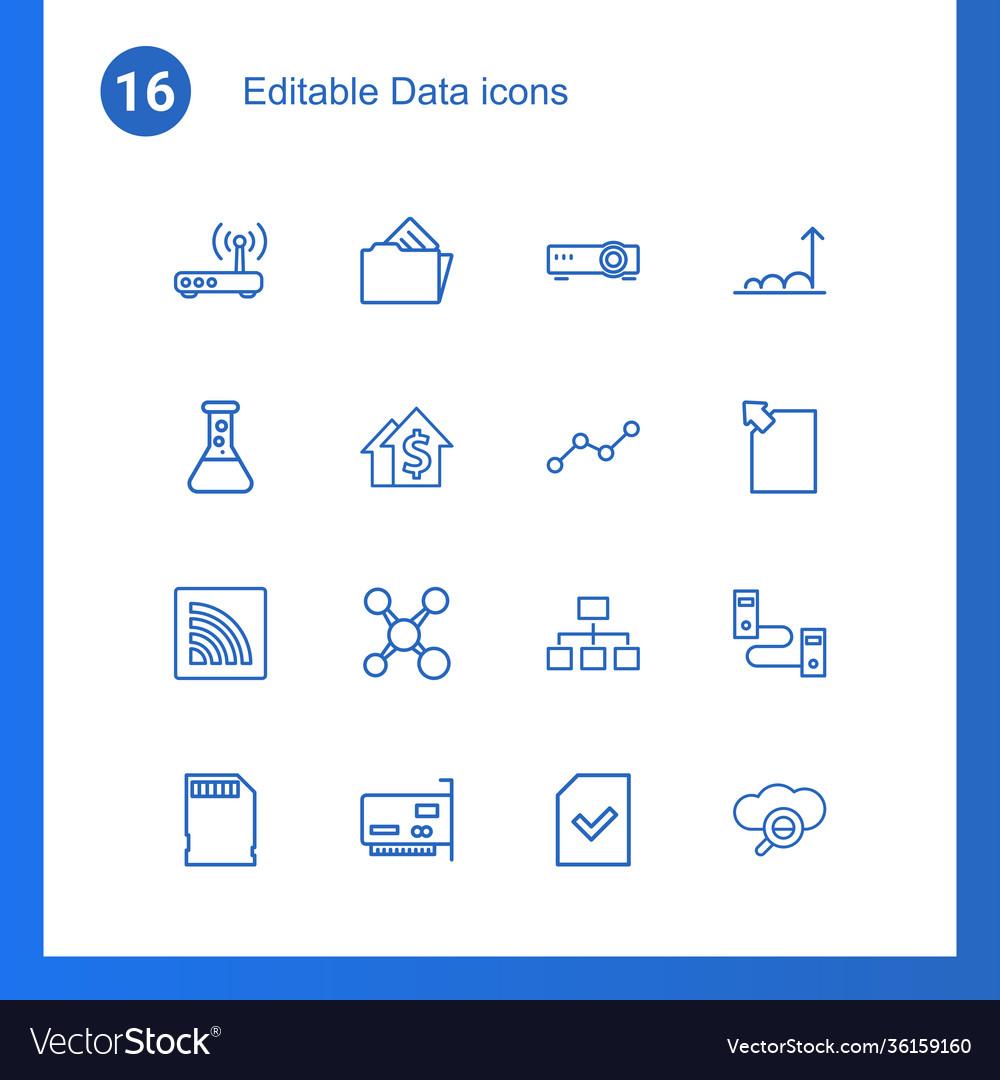 16 data icons