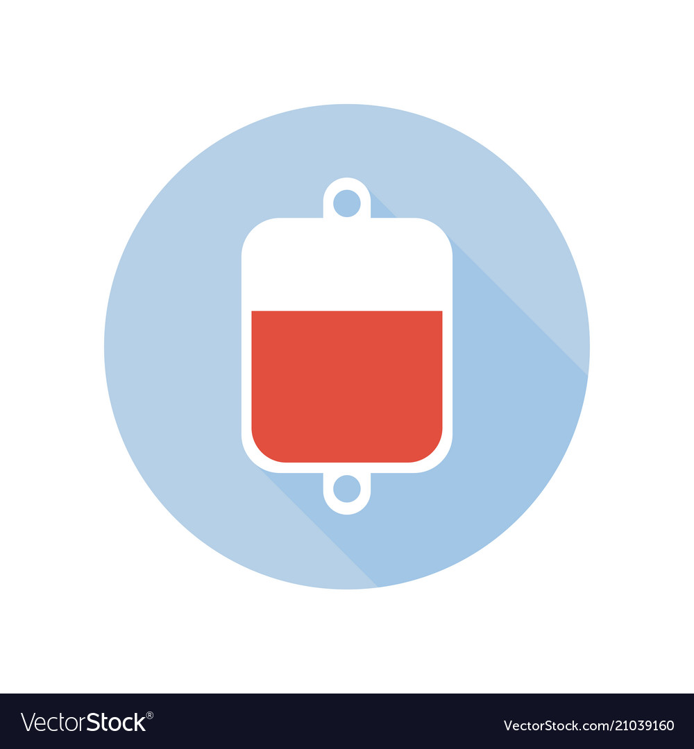 Blood transfusion intravenous therapy system icon