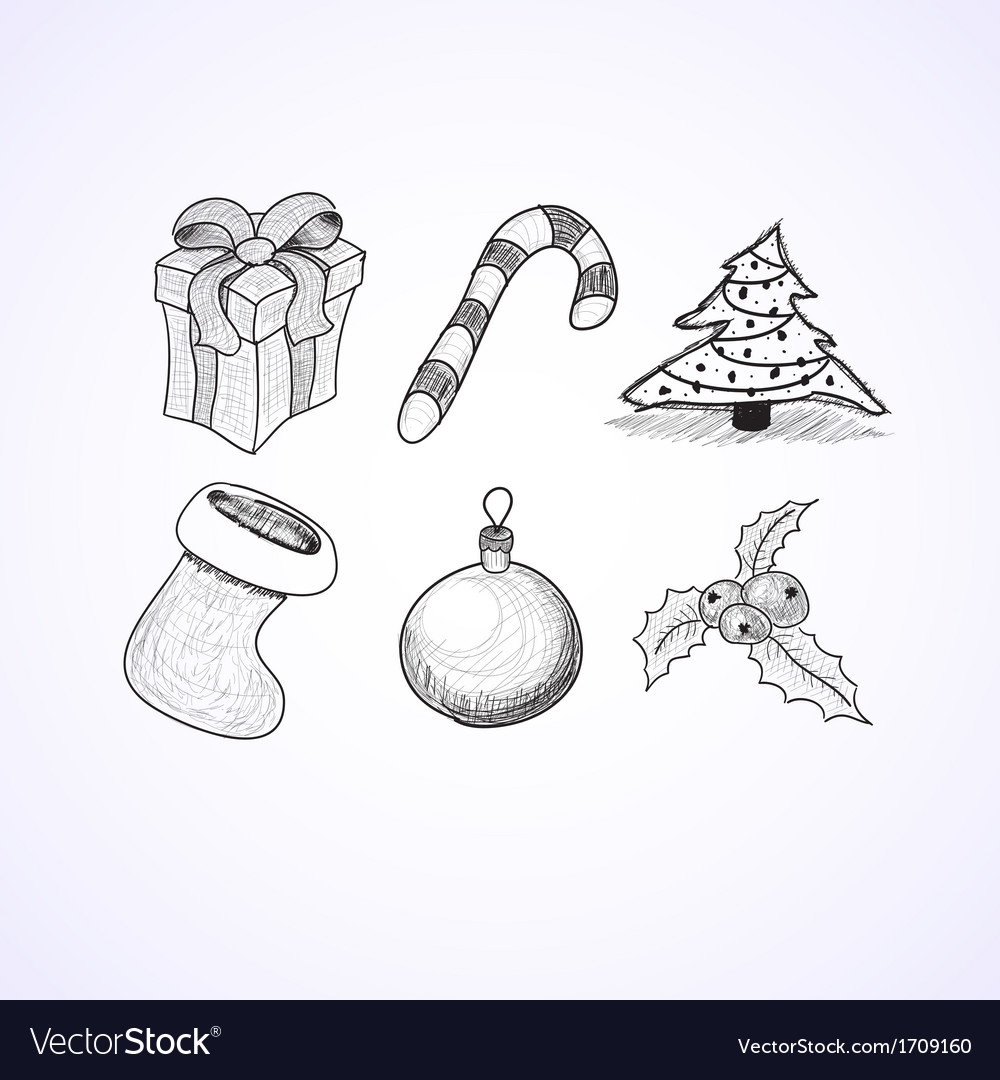 Christmas icons doodles sketchbook