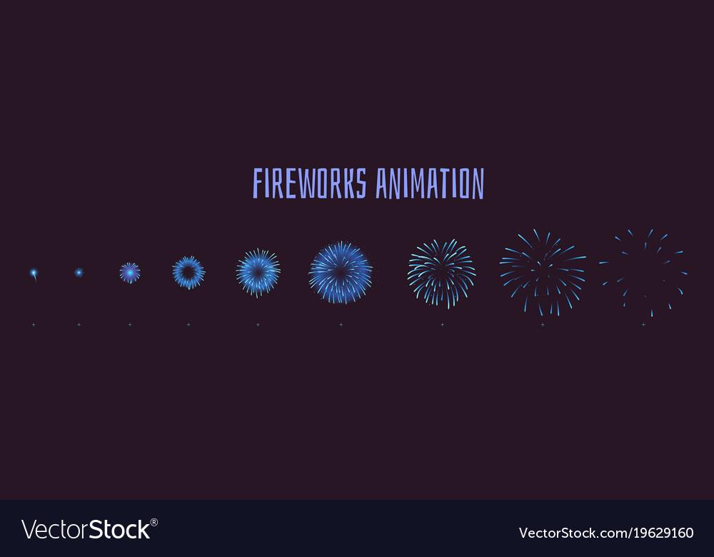 Fireworks explode effect burst sprites