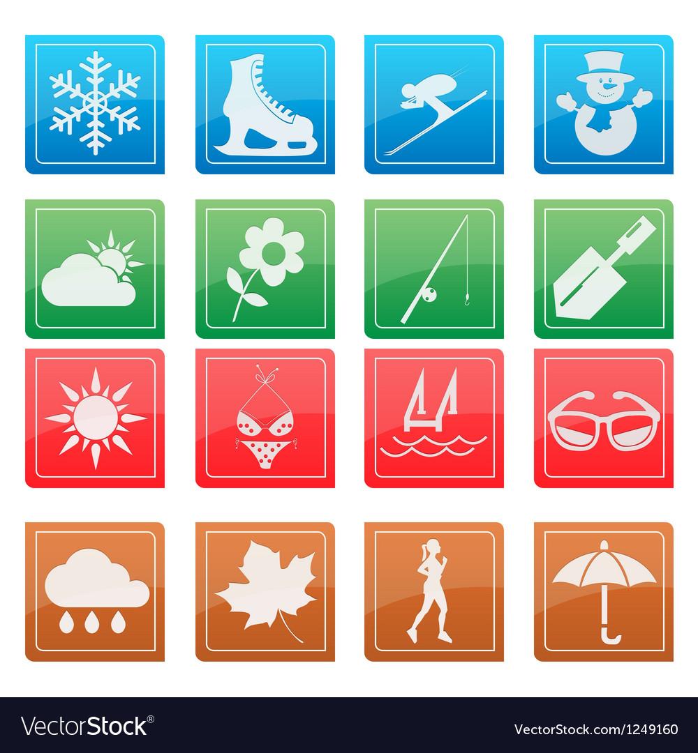 Season activity icon set