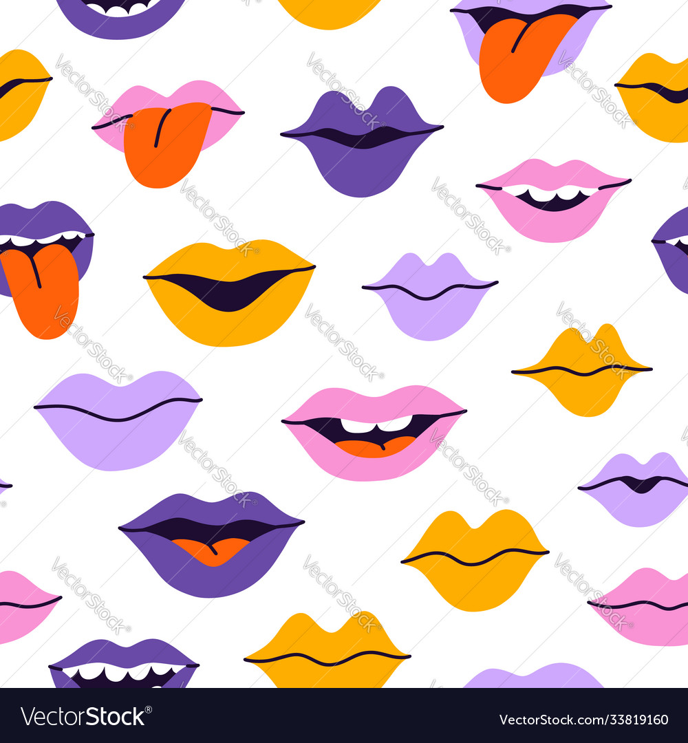 Smiles and kisses pattern