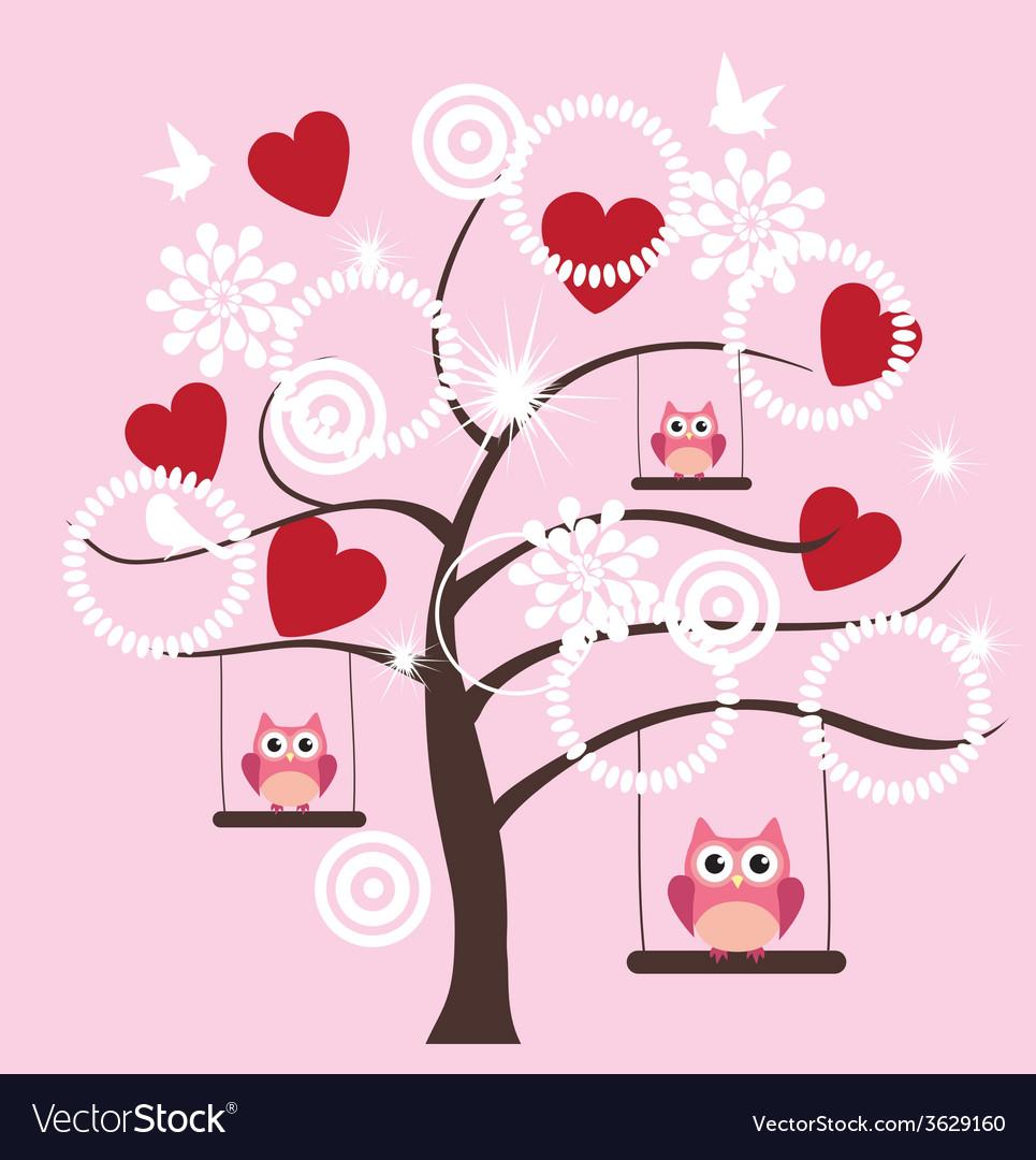 Tree heart owl