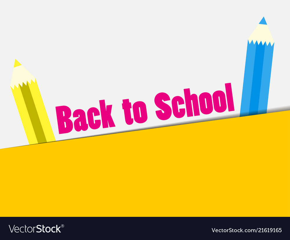 Back to school colorful pencil banner the