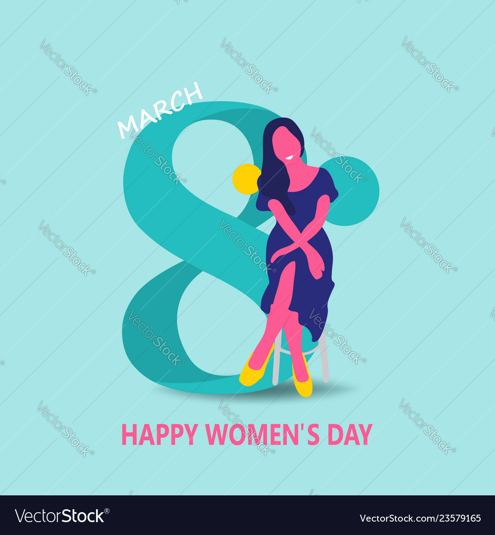 Creative Invitation Card Happy Women Day Concepts Vector Image