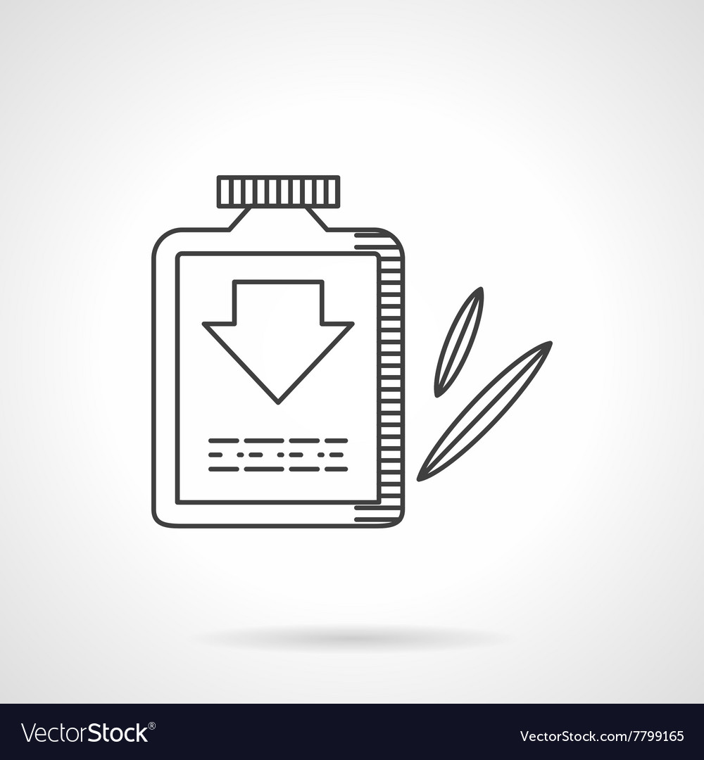 Laxative flat line design icon