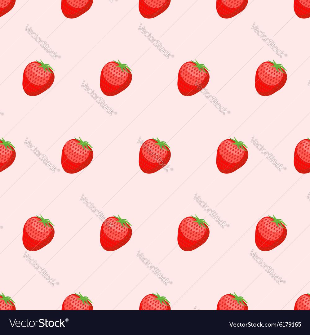 Red Strawberry seamless background Fresh ripe
