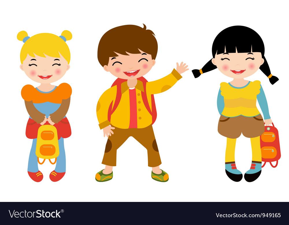 school kids royalty free vector image vectorstock rh vectorstock com kids victorian shoes kids victorian vampiress costume