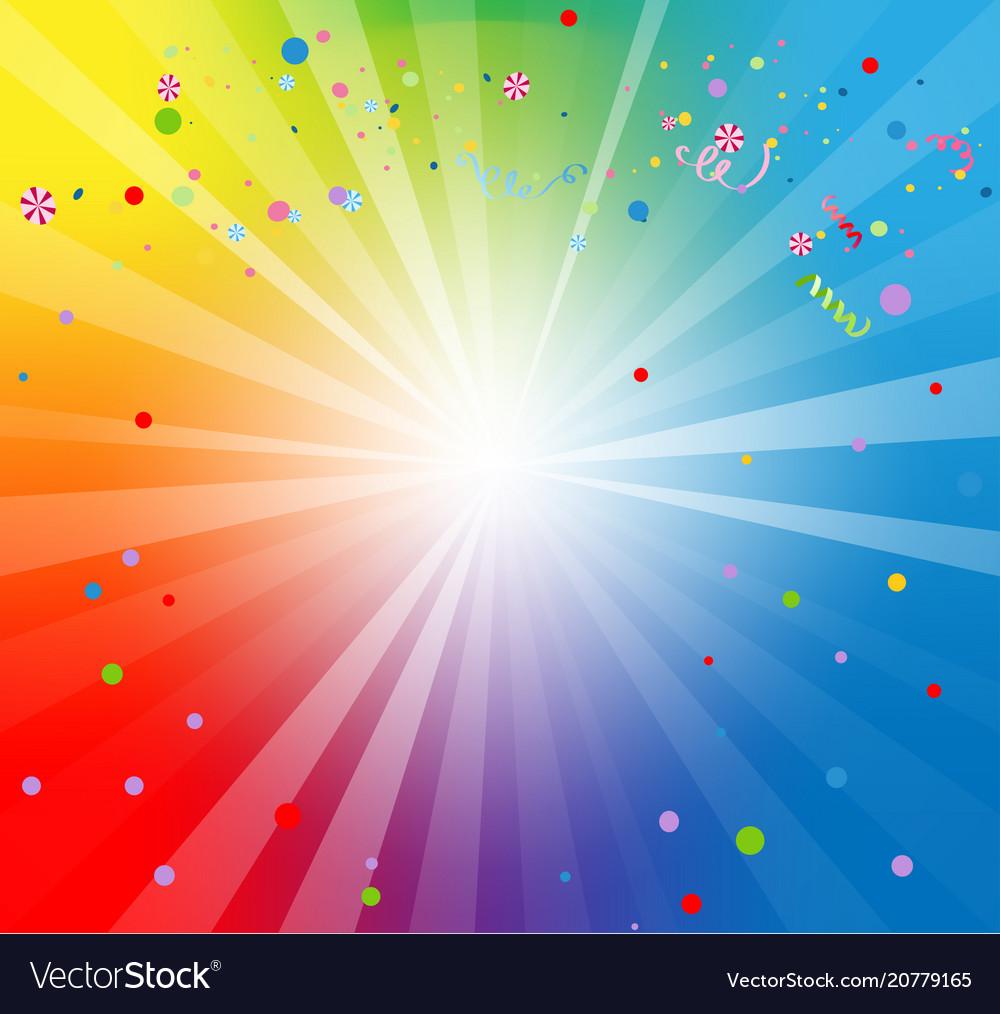 Spectrum color backdrop vector image
