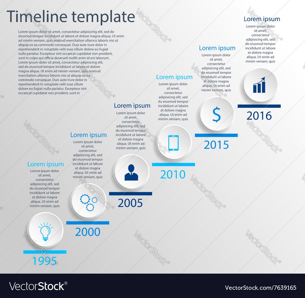 timeline infographic template royalty free vector image